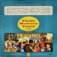 """Those Memory Years - Volume 1 Vinyl 12"""" (Used)"""