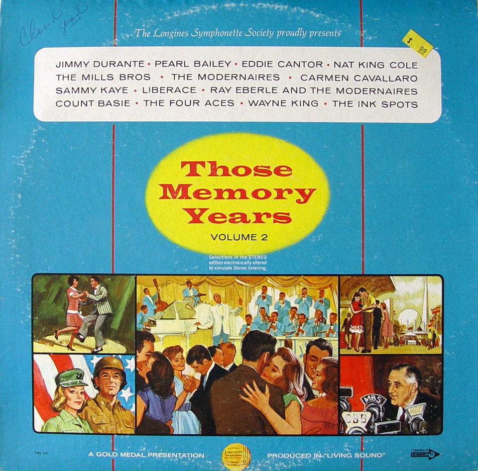 "Those Memory Years Volume 2 Vinyl 12"""