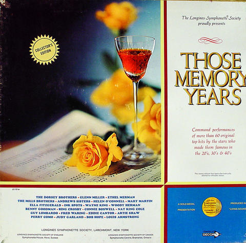 "Those Memory Years Vinyl 12"" (Used)"