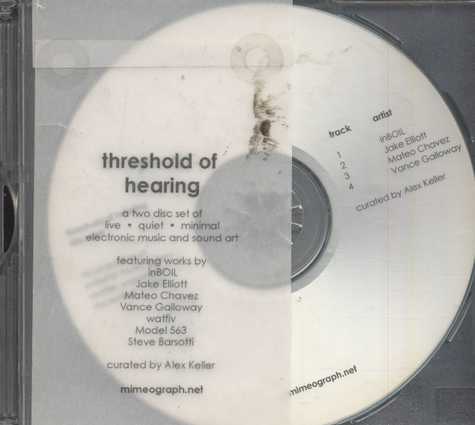 Threshold Of Hearing / Threshold Of Pain CD