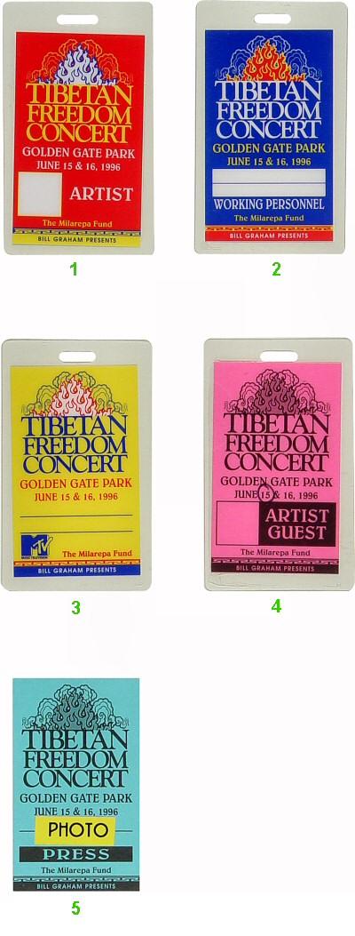 Tibetan Freedom Concert Laminate