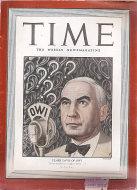 Time Magazine March 15, 1943 Magazine