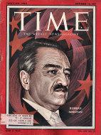 Time Magazine September 16, 1957 Magazine