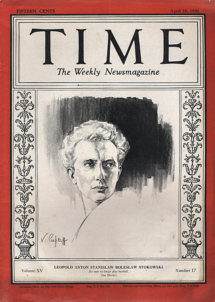 Time Magazine Vol. XV No. 17