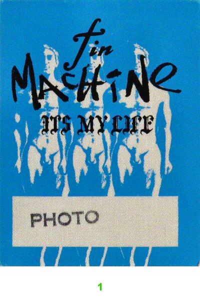Tin Machine Backstage Pass