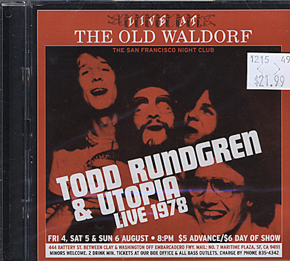 Todd Rundgren & Utopia CD