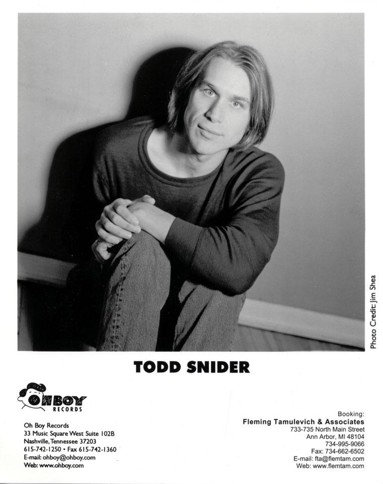 Todd Snider Promo Print