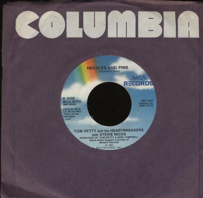 """Tom Petty & The Heartbreakers / Stevie Nicks Vinyl 7"""" (Used)"""