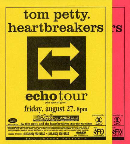 Tom Petty & the Heartbreakers Handbill reverse side