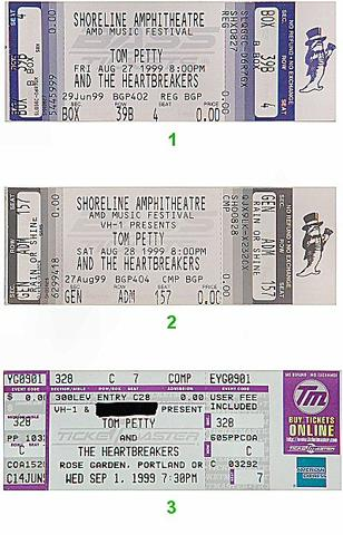 Tom Petty & the Heartbreakers Vintage Ticket