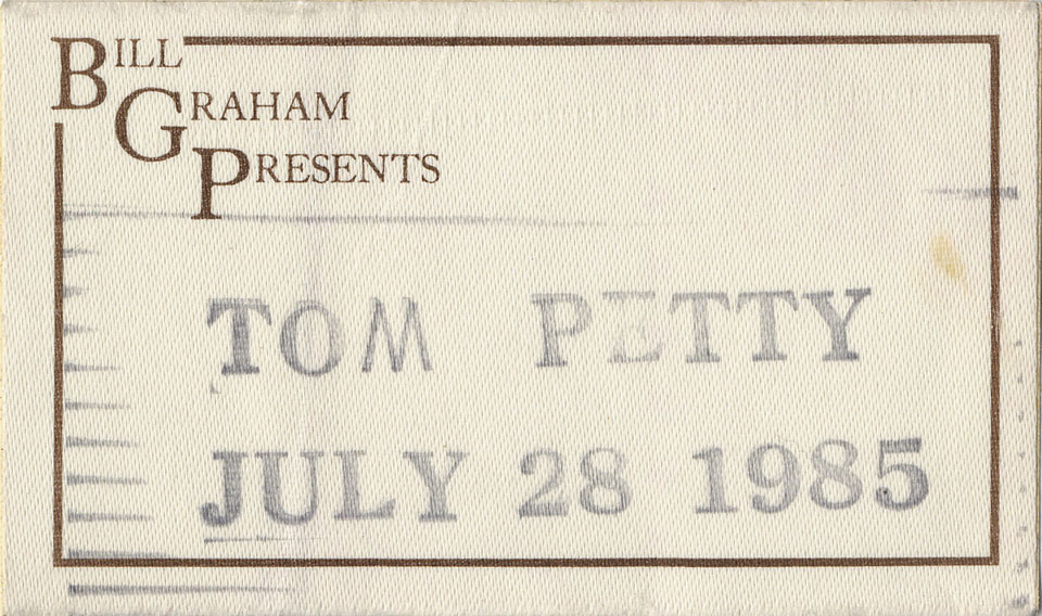 Tom Petty Backstage Pass