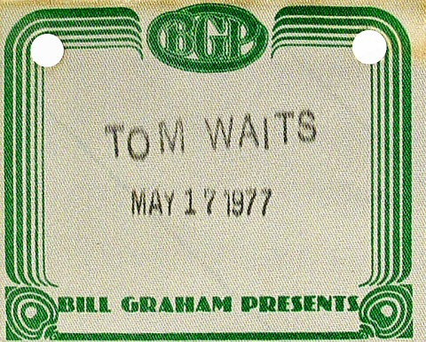 Tom Waits Backstage Pass
