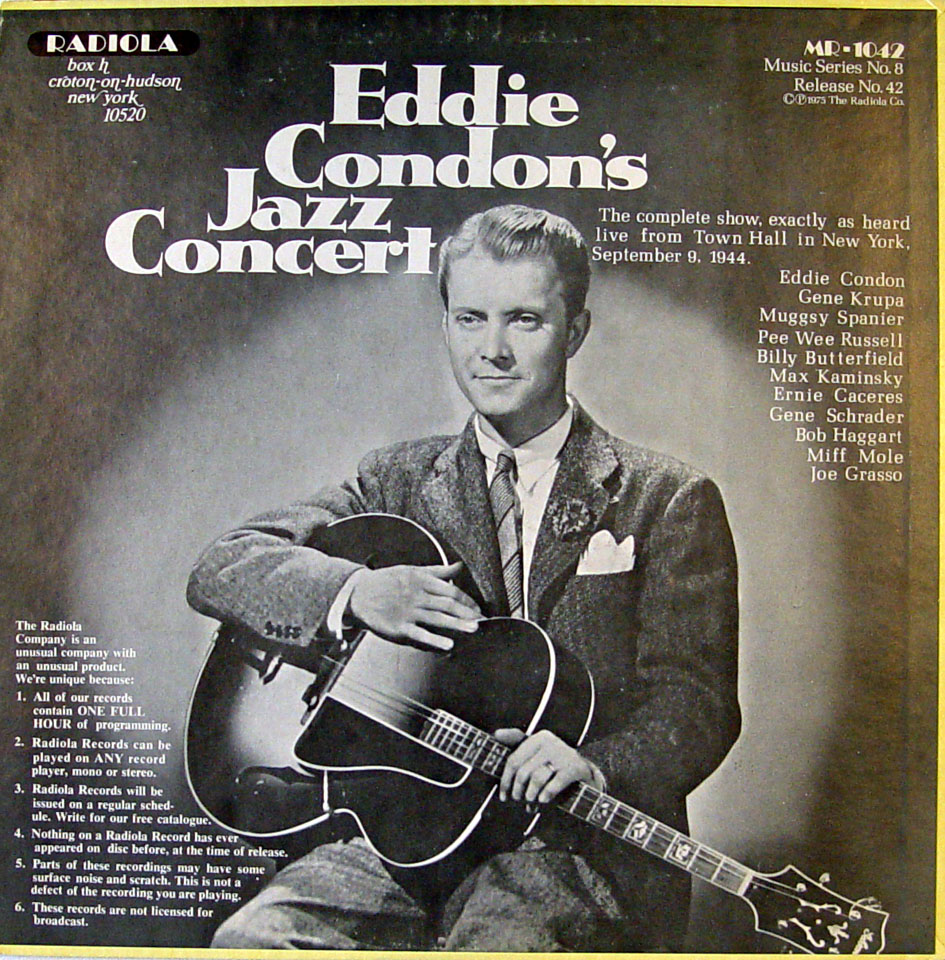 "Tommy Dorsey / Eddie Condon Vinyl 12"" (Used) reverse side"