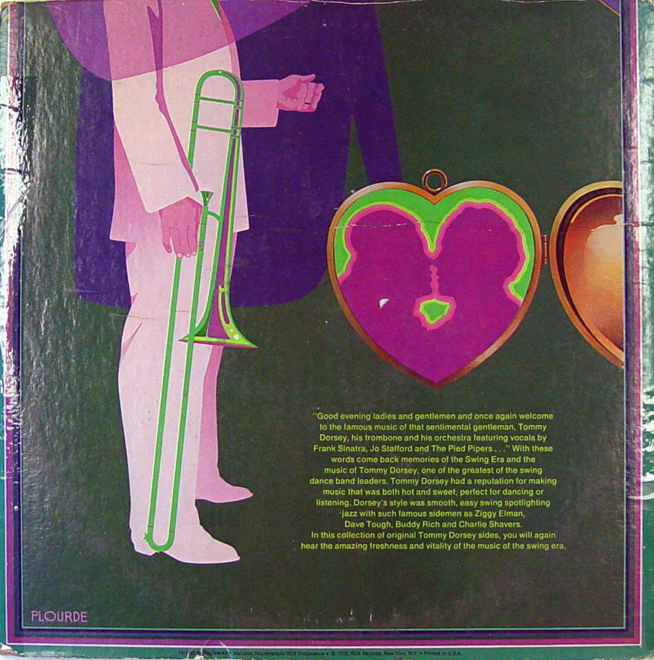 "Tommy Dorsey Vinyl 12"" (Used) reverse side"