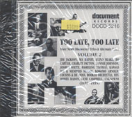 Too Late, Too Late, Volume 2 (1897-1935) CD