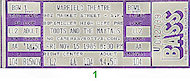 Toots & the Maytals Vintage Ticket