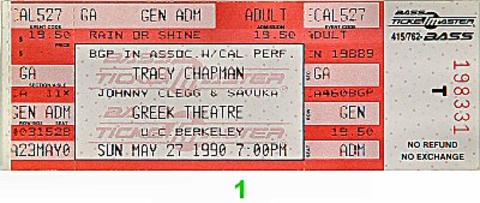 Tracy Chapman Vintage Ticket