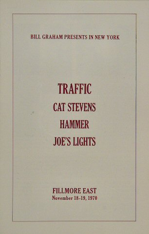 Traffic Program reverse side