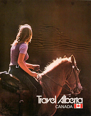 Travel Alberta - Horse Poster