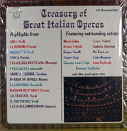 "Treasury Of Great Italian Operas Vinyl 12"" (New)"