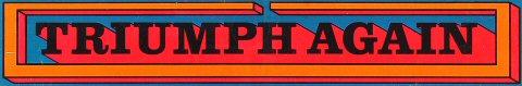 Triumph Again Sticker