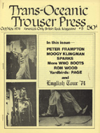 Trouser Press Magazine October 1974 Magazine
