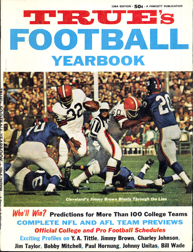 True's Football Yearbook 1964 Edition