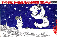 Two Guys Fooling Around With The Moon And Other Drawings Book