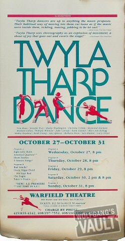 Twyla Tharp Dance Poster