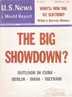 U.S. News & World Report Nov 5,1962 Magazine