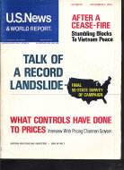 U.S. News & World Report Vol. LXXIII No. 19 Magazine