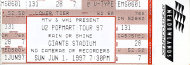 U2 Vintage Ticket