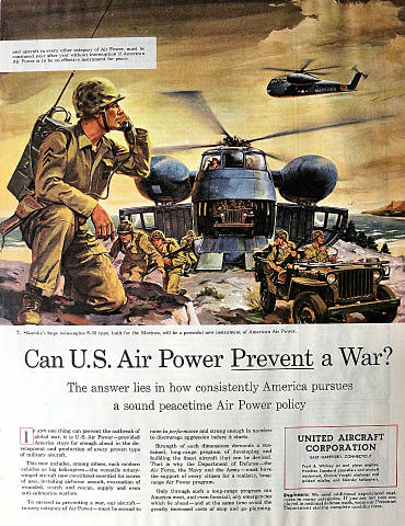 United Aircraft Corporation: Sikorsky S-56 Vintage Ad