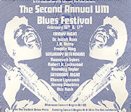 University of Miami Blues Festival Poster