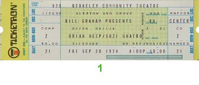 Uriah Heep Vintage Ticket