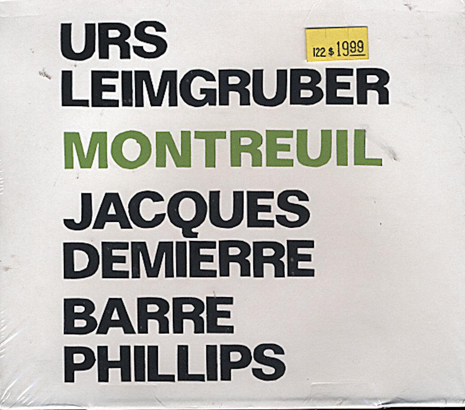 Urs Leimgruber / Jecques Demierre / Barre Phillips CD