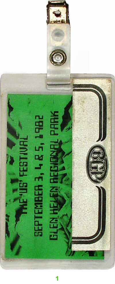 US Festival Laminate reverse side