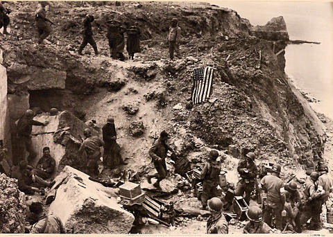 US Rangers At Pointe Du Hoc, Normandy Poster