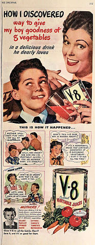 V-8 Cocktail Vegetable Juices: This Is How It Happened... Vintage Ad
