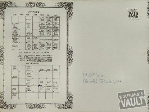 Van Morrison Postcard reverse side