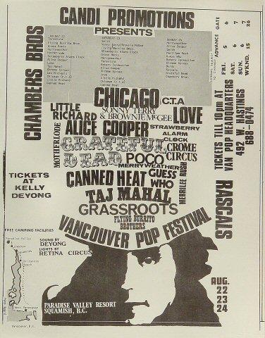 Vancouver Pop Festival Handbill