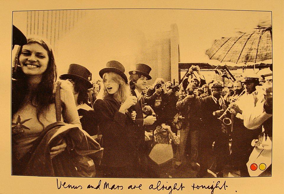 Venus And Mars Are Alright Tonight Postcard