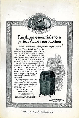 Victor Victrola Vintage Ad