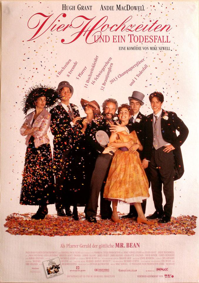 Vier Hochzeiten Und Ein Todesfall Vintage Concert Poster 1994 At