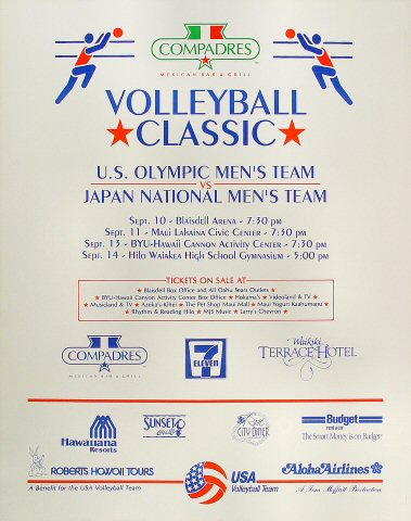 Volleyball Classic: US vs. Japan Poster
