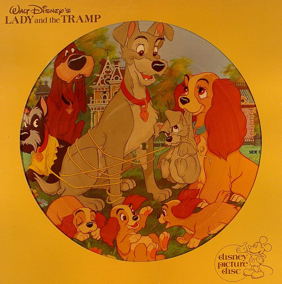 "Walt Disney's Lady And The Tramp Vinyl 12"" (Used)"