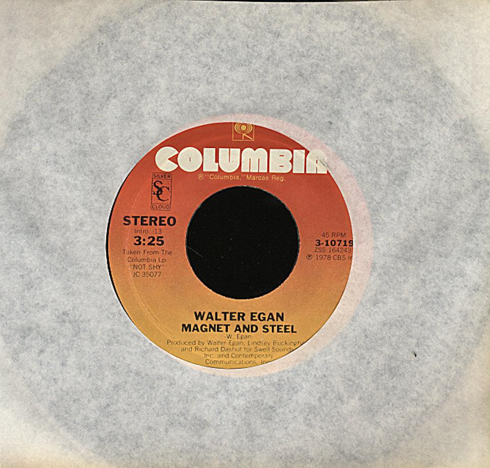 """Walter Egan Vinyl 7"""" (Used)"""