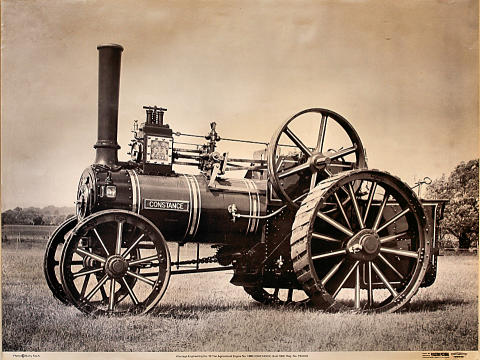 Wantage Engineering Co. 10-Ton Agriculture Engine No. 1389 Constance Poster