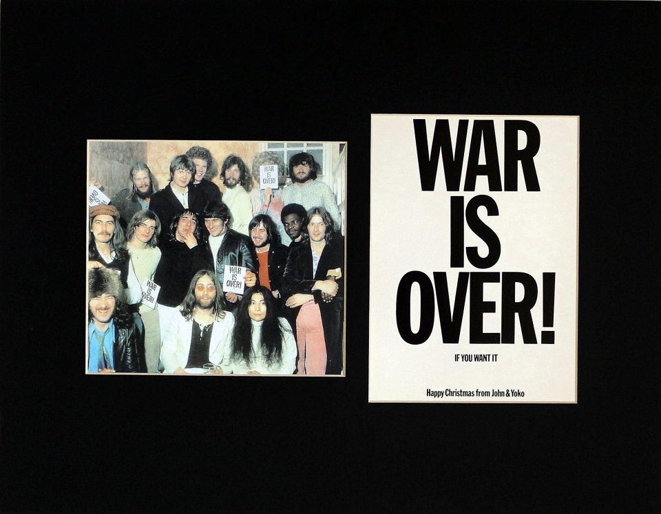 War Is Over! Vintage Print