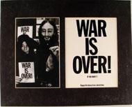 War Is Over Vintage Print
